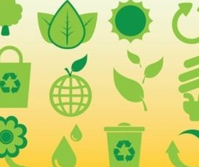 Ecology Icons design vector