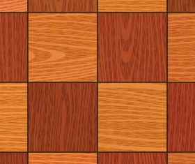 Square wood background vector