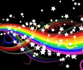 Seven rainbow gorgeous background vector design
