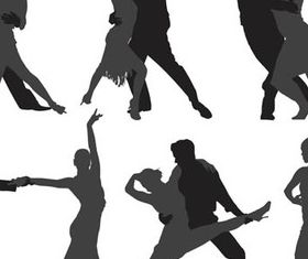 Different Tango silhouette 1 vector graphics