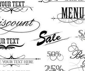Calligraphy Shopping design elements 1 vector design