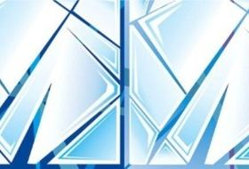 Funny broken glass background vector graphic