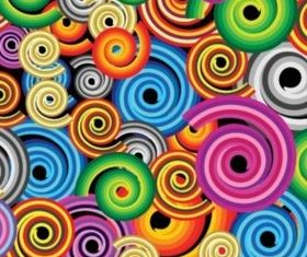 Colorful color rotary screw background Illustration vector