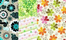 fresh flower background set vector