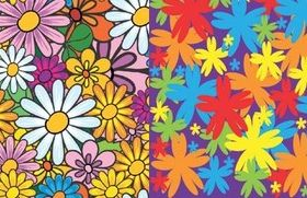Lovely hand painted flowers background vector material