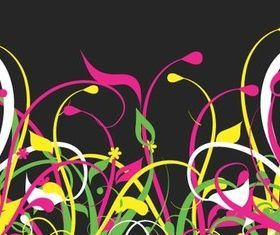 Color grass background vector graphics
