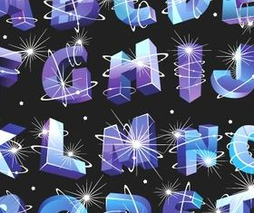 dynamic Alphabet vector graphics