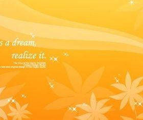 Dream autumn flower background set vector