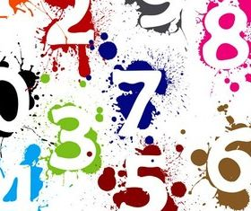 Ink number design vector