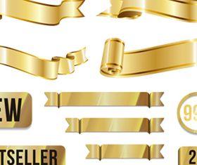 Qrnate Gold Sale Ribbons vector graphics