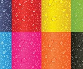Colorful water background vector design