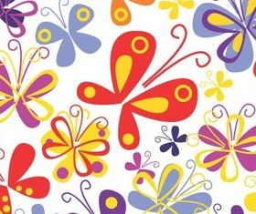 Colourful painted butterfly background vector design