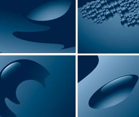 Blue water background vector set