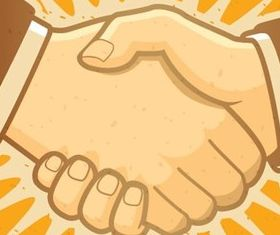 Business style handshake illustration vector