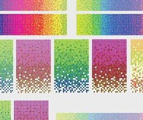 colored dots background vector