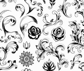 Ornate Floral Elements design vectors