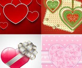Hearts Backgrounds Set 2 Illustration vector