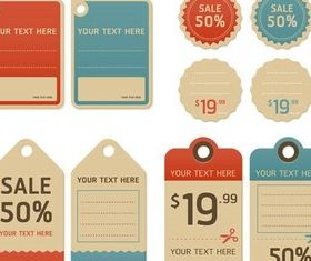 Retro Trade Stickers vector