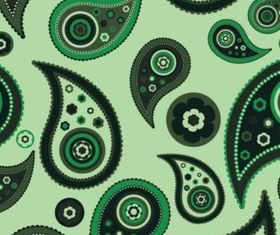 Paisley Pattern shiny vector
