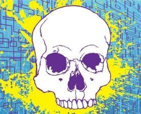 Free Skull background vector