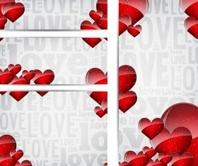 Valentine Banners Illustration vector