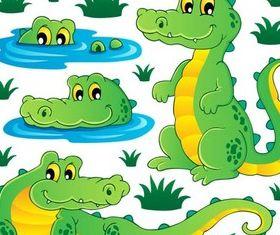 Cute Crocodiles vector