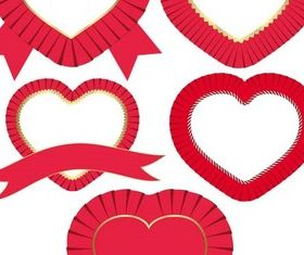 Color Hearts Elements vector