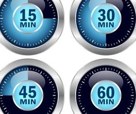 Color Round Timers vector