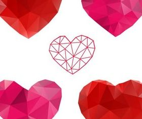 Abstract Hearts Elements vector