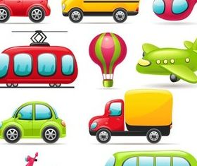 Cartoon Transport Icons vector