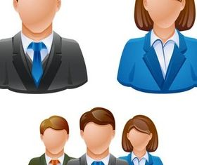 Shiny Workers Icons vectors graphic