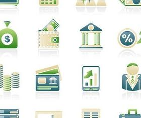 Business Light Icons vector graphics