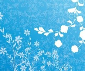 Spring Flowers Background vectors graphic