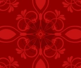 Red Flower Pattern shiny vector