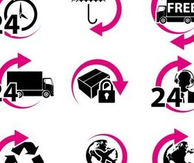 Delivery Icons free vector