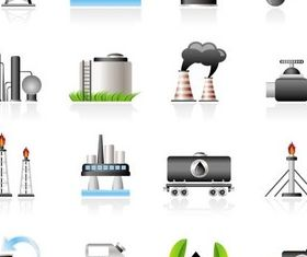 Oil Icons free vector design