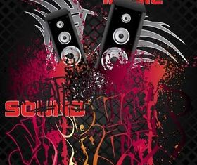 Music Style Backgrounds 24 vector graphic
