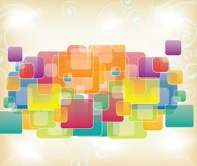 Free Squares Vector Shapes background design