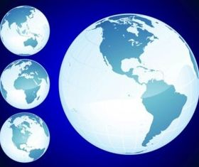 Shiny Globes vector
