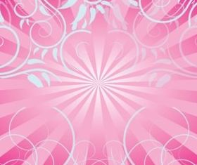 Free Pink Swirls Background vector graphics