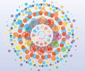 Free Colorful Circles Background vector