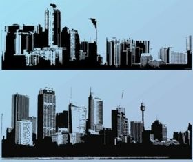 Big City Silhouettes vector set