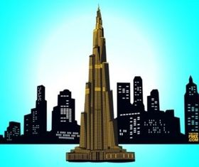 Downtown Dubai vector