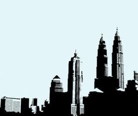KualLumpur Skyline vector design
