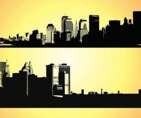 Big Cities Vectors Illustration