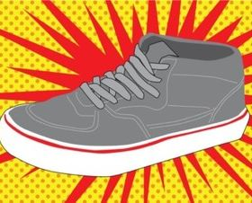 Footwear vector graphics