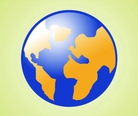 Planet Earth Icon vectors graphic