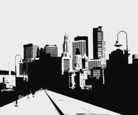 City Road Illustration vector