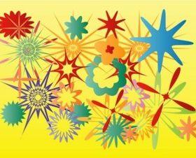 Flower Stars vectors