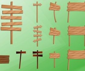 Wooden Post Signs design vectors